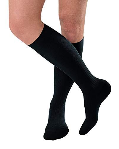 JOBST forMen Ambition Kniestrümpfe mit geripptem Kleid, 15-20 mmHg Kompressionssocken, geschlossene Zehe, 2 Regular, Marineblau (Gerippte Socken Kleid)