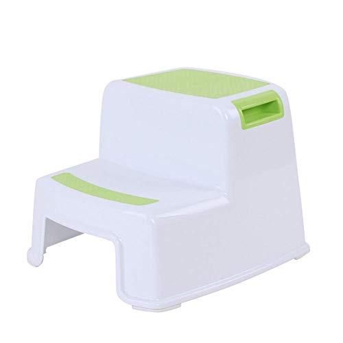 Alexsix 2 Tritthocker Kleinkind Kinder Stuhl Toilette Töpfchen Training rutschfest für Badezimmer Küche - Grün -