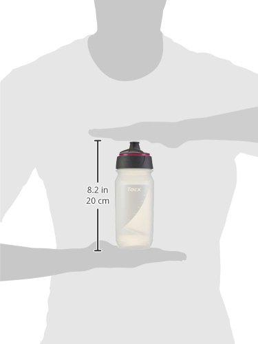 Tacx Trinkflasche Shanti Twist 500 ml mit Membranverschluß Colour, Blau Transparent/Leuchtpink