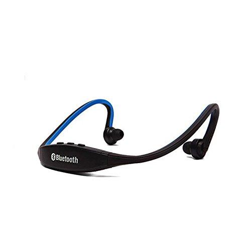 lemumu Bluetooth Headset Kopfhörer Ohrhörer/Headset, Laufen/Fitness, schweißfest, für iPhone/Apple iPhone/Android-Smartphones blau