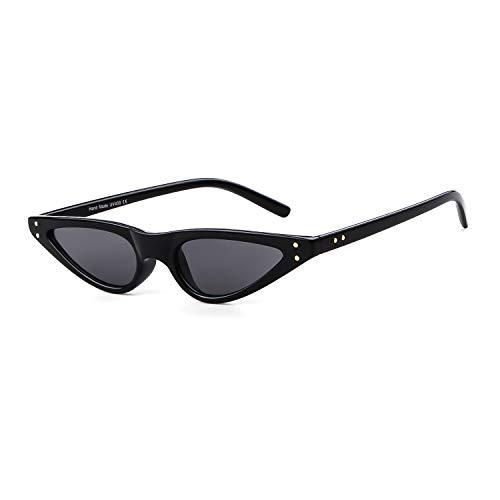 ADEWU Vintage Sonnenbrillen Retro Klein Cat Eye Brillen für Damen Frau