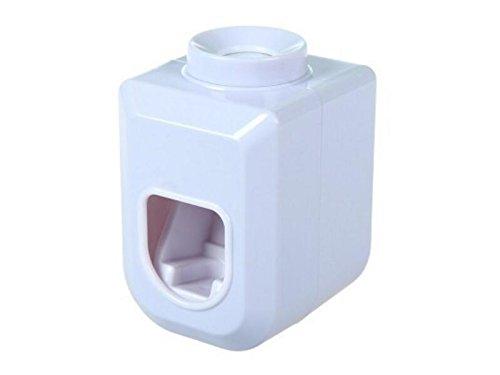 JxucTo Soporte dispensador de Crema Dental automático Simple (Blanco)