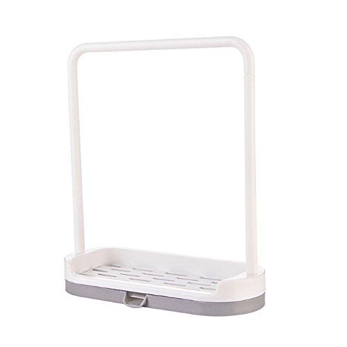 JackRuler Neues hängendes Badezimmer-Küchengerät-Kasten-heißes Lappen-Handtuch Storage RackLagerregal (Größe:19,3x16,8x7cm (Grauweiß) (Badezimmer Storage-handtücher)