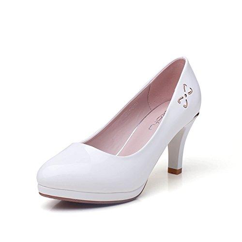 Xia superficiale/ circolare testa e tacchi/ scarpe da donna-C Lunghezza piede=23.3CM(9.2Inch)