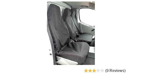 Factor First FF94975 2 1 Black Waterproof Van Seat Covers Amazoncouk Car Motorbike