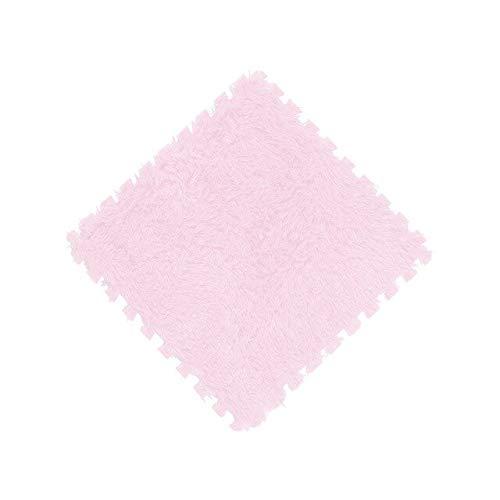 KBWL 1 Pieza 30x30cm Manta de Pelusa de Pelo Largo súper Suave Alfombra Almohadilla de Espuma DIY Puzzle Pad Alfombra Suave de Felpa Niños Bebé 30x30cm Rosa