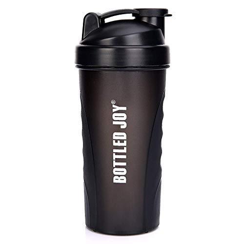 Shaker Flasche, Sport Wasser Flasche mit großer Kapazität, Shaker Tassen 800ml, Trinkflasche Mixer Shaker für Gym/Outdoor/Sport, Schwarz ()