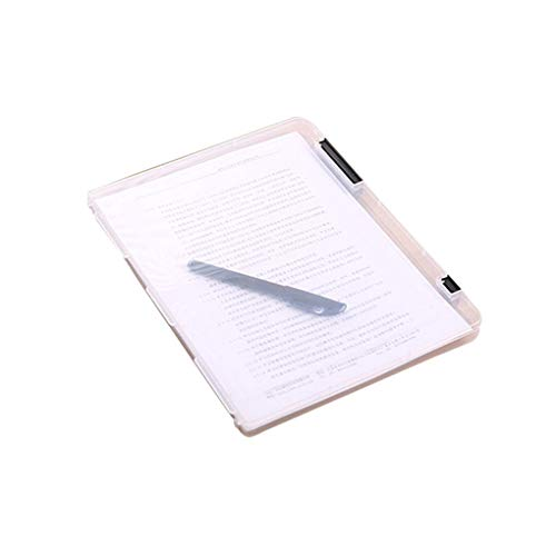 Ben-gi A4 File Storage Box durchsichtiger Kunststoff Document Cases Desk Papier Veranstalter (Kunststoff File-storage Boxen)