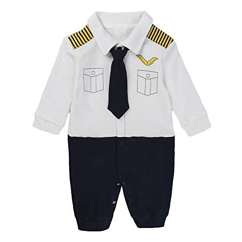 Anywow Neugeborenes Baby Gentleman Strampler Spielanzug Säugling Baby Jungen Formal Bowtie Langarm Bodys Einteiler Overall Bodysuit