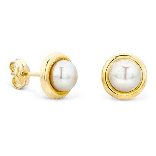 Perlen Set Ohrstecker 14Karat Gold Gelbgold (585) Schmuck ()