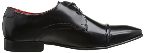 Base London Measure Herren Schnürhalbschuhe Schwarz - Noir (Hi Shine Black)