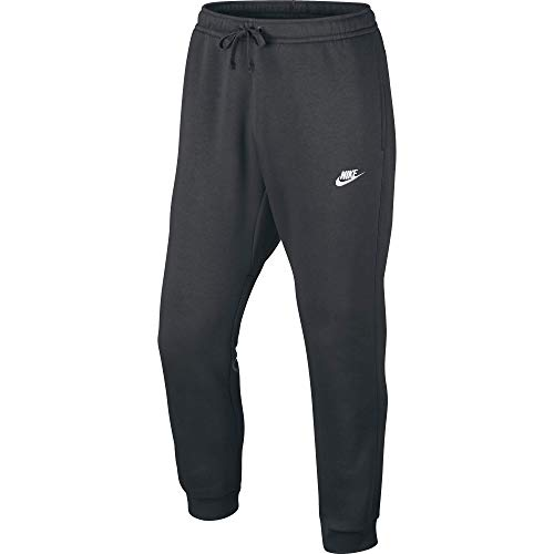 Nike Herren Jogger Fleece Club Trainingshose, Grau (Charcoal Heathr / White), X-Large Hoch - Activewear Nike