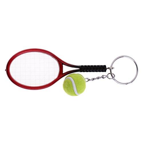 CUTICATE Tennisschläger Ball Schlüsselanhänger Schlüsselanhänger Paddel Schlüsselanhänger Dekor Geschenk Souvenir