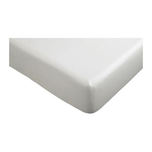 IKEA DVALA-Spannbettlaken für Doppelbetten, Weiß