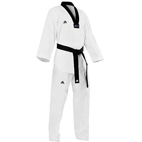 Adidas Adichampion II - Dobok de taekwondo, color negro blanco blanco Talla:170