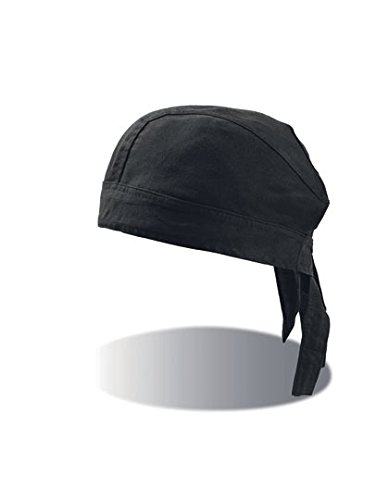 Kostüm Junge Biker Kleiner - Baumwoll Bandana Corsaire Bandanas Kopftücher (One Size - schwarz)