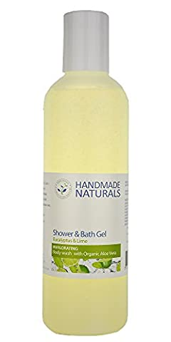 Handmade Naturals Herbal Shower and Bath Gel, Eucalyptus and Lime