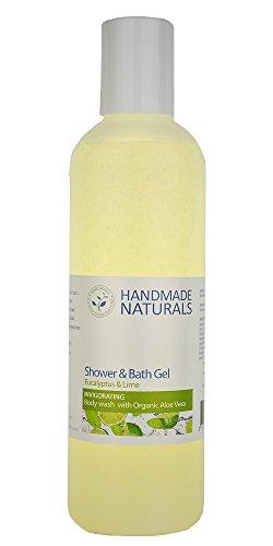 Hecho a mano Naturals Herbal gel de baño y ducha, eucalipto y lima