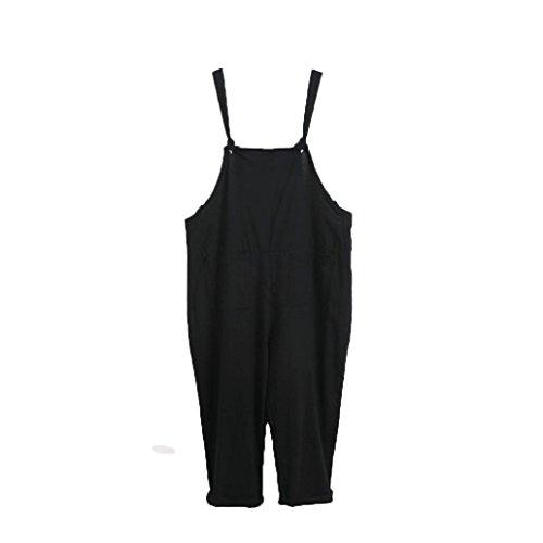 TWIFER Damen Loose Jumpsuit Strap Gürtel Bib Hose Casual Overall (M-3XL) - Gore Fleece Bib