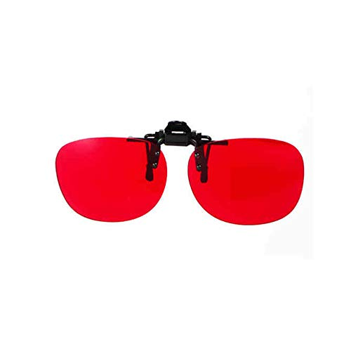 METTE Red Green Blind Colour Weakness Corrective Clip-on Gläser, Flippable Color Vision Disorder Corrective Brips Clips, Unisex, for Color Blind Patients