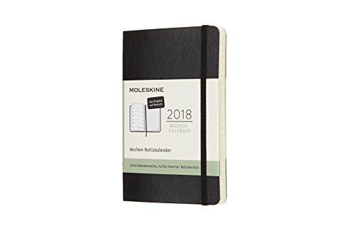 Moleskine 8051272894431Weeks–Calendar, 12Month, 2018, German, Hard Cover, Black