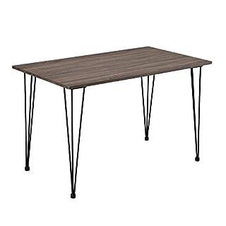 en.casa Design Esstisch 'Hairpin' 120x70cm - Küchentisch Esszimmertisch Tisch in Holz-Optik Hairpin-leg
