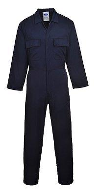 Portwest - Tuta da lavoro con bottoni sulla parte anteriore, taglia XL, colore blu navy, XXL, Blue, 1