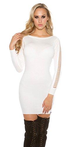 In-Stylefashion - Robe - Femme blanc Weiß taille unique Weiß