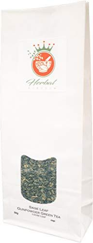 Salbei und Schießpulver Grüntee Loser Tee (50g packung) - Salbei Grüner Farbstoff