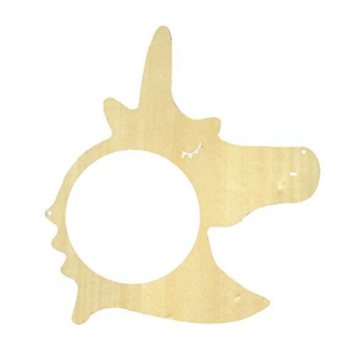 Vosarea Espejo Colgante de Espejo de Pared de Madera de acrílico en Forma de Unicornio