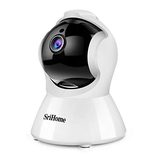 Srihome SH025 Cámaras de Vigilancia Interior 1080P, Cámara IP WiFi Audio Bidireccional, Detección de Movimiento, Visión Nocturna, Auto-Tracking,Control Remoto de aplicación