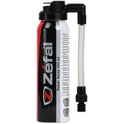 Zéfal Aerosol de reparación Antipinchazos reparador espuma, Unisex adulto, negro, 100 ml
