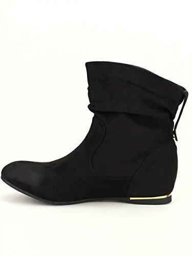 Cendriyon, Bottine Noire BELLO STAR MODA Chaussures Femme Noir