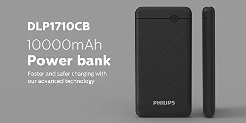Philips DLP1710CV Fast Charging Power Bank 10000mAh with Lithium Polymer Battery Blue (Twin USB Output Port 3.1A, with Micro USB and Type c Enter) Image 8