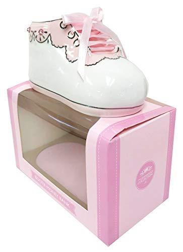 Baby Money Box Bootie Girl +Paper-Pink Baby Girl Bootie