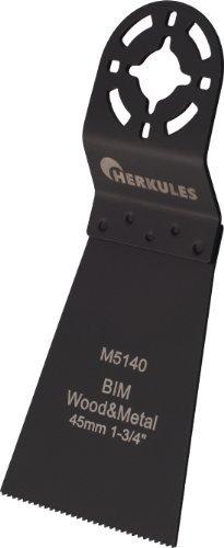 Herkules M5140 Lame de scie bimétal pour ponceuse vibrante multifonction sur bois, agglos, plastique, aluminium, tôle d'acier, métaux non ferreux 64 x 45 x 0,8 mm 18 dpp