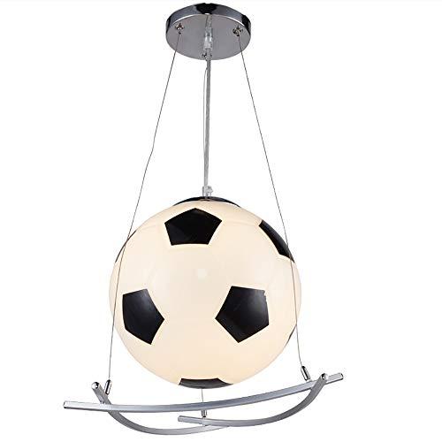 Lámpara Colgante de fútbol Lámpara de Vidrio con luz E27 Soporte de...