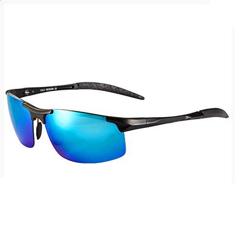 LXKMTYJ Polarisator auf die benutzerdefinierte Myopie Sonnenbrillen Herren Sonnenbrillen original Rückspiegel Grad Brille Fahren Tide, der Blue Box