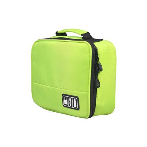 Yardwe 1 STÜCKE Multifunktionale Elektronik Organizer Tragbare Tasche Reise Digitale Tragetasche für USB Datenkabel Ladegerät (grün) Digitale Reise-tasche