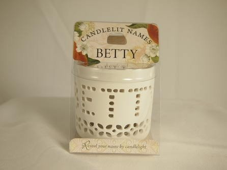 History & Heraldry Candlelit Names - Betty - Tea Light Lite Candle 001850034-HH by History & Heraldry