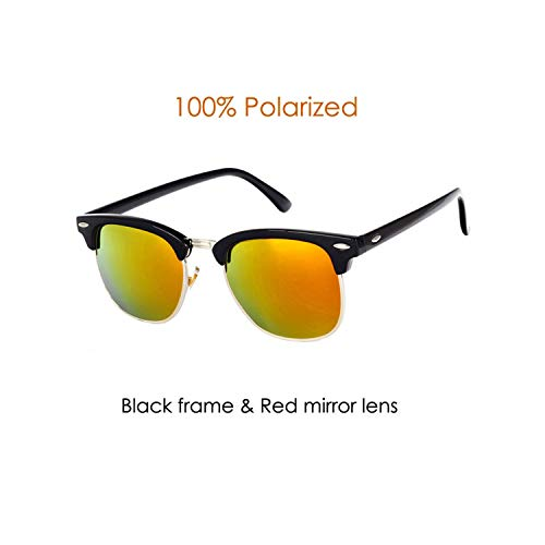 Sport-Sonnenbrillen, Vintage Sonnenbrillen, Classic Brand Polarized Sunglasses Männer WoMänner Half Metal Mirror Unisex Sun Glasses Gafas De Sol UV400 CC0832 C3