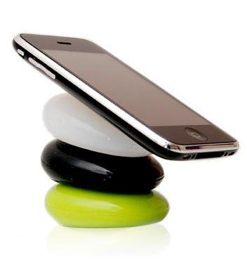 Die Your Pebbles Silikonkissen in GELB als Handyhalter - Die einfallsreichen und flexiblen Silikon-Kissen für Ihr Smartphone, Tablet, Notebook uvm