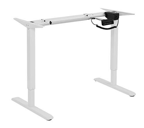HOKO Schreibtischfüße elektronisch höhenverstellbar Ergo-Work-Table. Für ergonomisches Arbeiten auch im Stehen! Mit Speicher-Steuerung und Erinnerungsfunktion. Farbe: Weiß (Tischfuß Drucker)