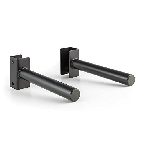 CAPITAL SPORTS Plahol Gewichts-Scheiben-Halterung Hantel-Scheiben-Ablage Paar max. 200 kg für Power Rack-Montage (50 mm Durchmesser, 35 cm lang, 1,4 cm Bohrung) Schwarz