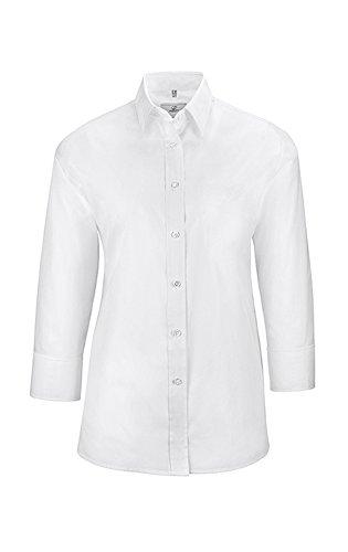 GREIFF Damen-Bluse mit 3/4 Arm | Kent Kragen | Comfort Fit | Farbe: Weiß | Größe: 40