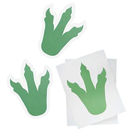 Fußabdruck Sticker 6er Set | Dinosaurier Fußspuren als Deko für Kindergeburtstag ()