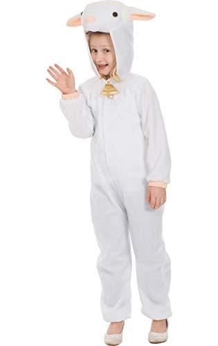Kinder Kleines Lamm Schafe Weihnachtskrippe Tier Kostüm Verkleidung Small (Schäfchen Tier Kostüm)