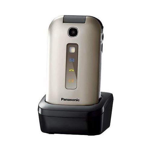 Panasonic KX-TU349EXNE 114g Champagner, Chrom Handy - Handys (Klappgehäuse, Single SIM, 240 x 320 Pixel, Bluetooth, Champagner, Chrom)