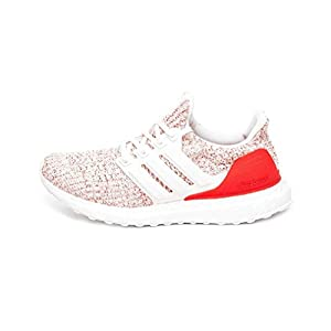 adidas Ultraboost W, Zapatillas de Running para Mujer, Blanco Chalk White/Active Red, 40 EU