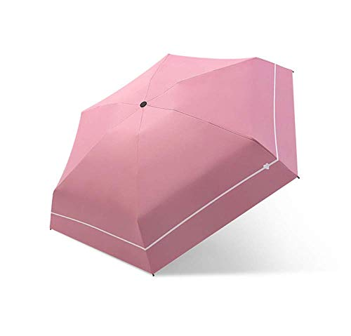 Regenschirm String Moonlight Ultralight Small 5 Taschenschirm Rain Woman Sonnenschutz UV-Schutzschirm Female Sunshade Parasol Girls, C